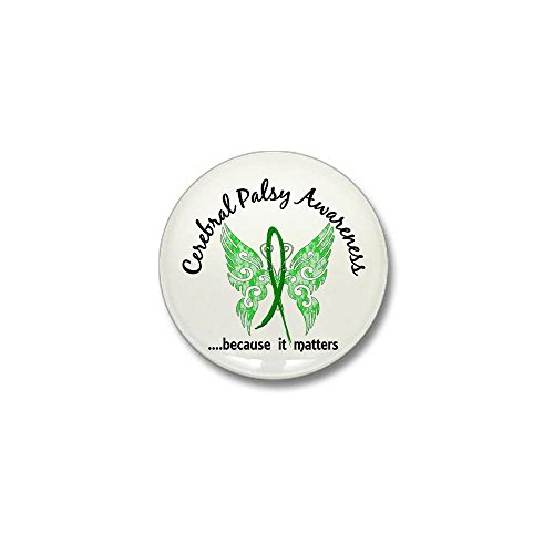 CafePress Cerebral Palsy Butterfly 6.1 Mini Button 1