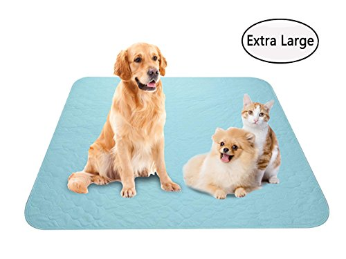 Washable Reusable Whelping Mat Dog Training Pee Pads, 1Pack Extra Large 59 x36 Leakproof Waterproof Fast Absorbing Odor Control, Senior Incontinence Kid Bed Wetting, Protect Floor Furniture Car