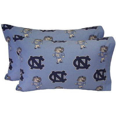 College Covers North Carolina Tar Heels King Pillowcase Pair - King - Solid (Includes 2 King Pillowcases)