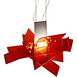Modern Galaxy Acrylic Chandelier Bang Pendant LED Light Ceiling Lamp Lighting Dinning Room White/Red in Small/Large