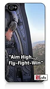US Air Force Aim High United States iPhone 5 Quality Hard Snap On Case for iPhone 5/5s - AT&T Sprint Verizon - Black Frame