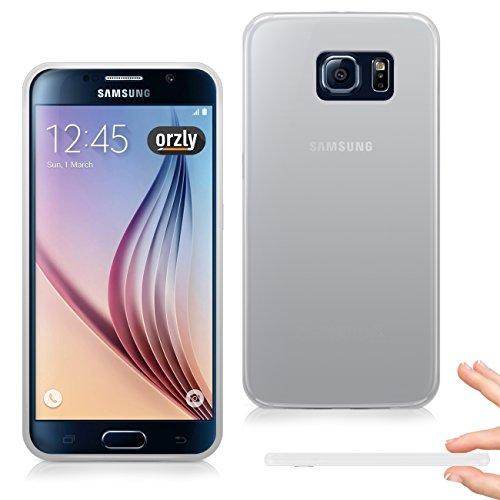 Orzly® - FlexiSlim Case for SAMSUNG GALAXY S6 - Super Slim (0.5mm) Case / Caja DURO Funda en NEGRO - Diseñado por Orzly® exclusivamente para SAMSUNG GALAXY S6 SmartPhone / Phablet / Teléfono Móvil (20 BLANCO