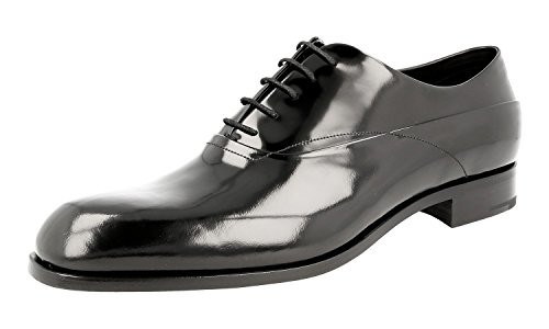 Prada Men's 2EB143 P39 F0002 Brushed Spazzolato Leather Business Shoes oiTbECHXr