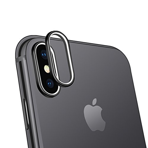 Sakula Camera Lens Protector Ring Plating Aluminum for iPhone X Camera Case Cover Ring Black