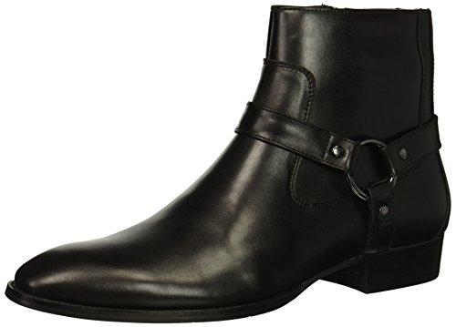 Steve Madden Men's Sebastian Ankle Boot, Black Leather, 10.5 M ()