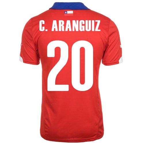 追うカウンターパート肉腫Puma C. Aranguiz #20 Chile Home Jersey World Cup 2014/サッカーユニフォーム チリ ホーム用 ワールドカップ2014 背番号20 チャルレス?アランギス
