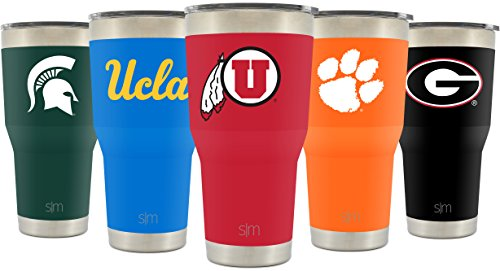 Simple Modern University of Utah 30oz Cruiser Tumbler - Vacuum Insulated Stainless Steel Travel Mug - U of U Utes Tailgating Hydro Cup College Flask - University Color