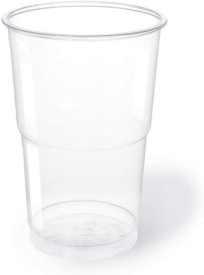 TELEVASO - 3000 uds - Vaso de plástico color transparente, de polipropileno (PP) - Capacidad de 250 ml - Desechables y reciclables - Ideal para bebidas frías como agua, refresco, zumos, cerveza