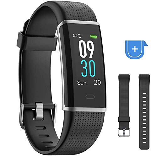YAMAY Fitness Tracker Heart Rate Monitor Watch,IP68 Waterproof Activity Tracker Color Screen Sport Watch with Sleep Tracker Step Counter 14 Sports Mode,Smart Fitness Watch for Kids Men Women (Best Step Tracker App)