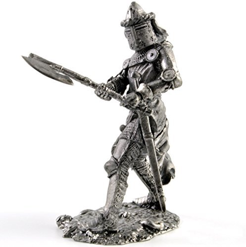 - Tin toy soldiers. Germany. Knight. 14th Century metal sculpture. Collection 54mm (scale 1/32) miniature figurine