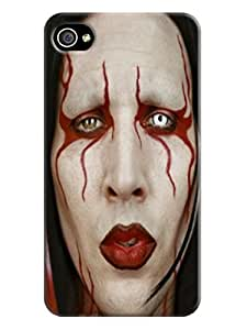 Lovely cartoon TPU phone case cover with sincere fit for iphone4/4s (Marilyn Manson)