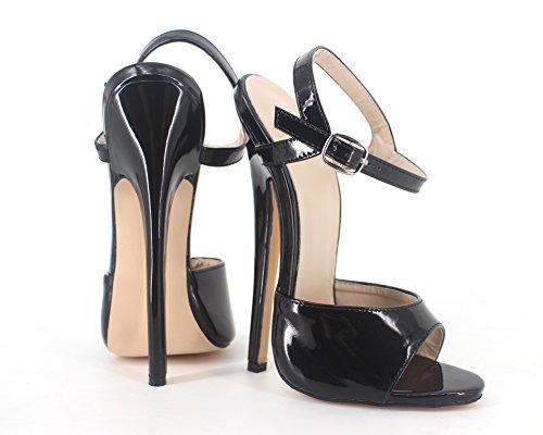Wonderheel stilleto ankle strap high heel patent fetish women Sandalen