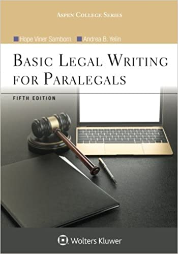 Basic legal writing for paralegals aspen college series hope basic legal writing for paralegals aspen college series 5th edition fandeluxe Image collections