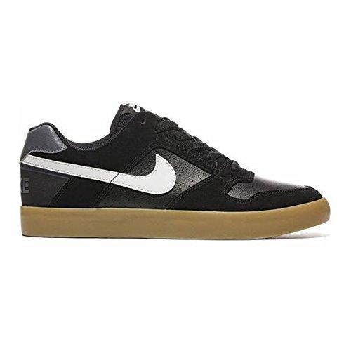 NIKE Mens SB Delta Force Vulc Black/White Gum Light Brown Skate Shoe 7 Men US