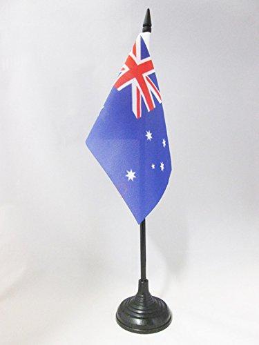AZ FLAG Australia Table Flag 4'' x 6'' - Australian Desk Flag 15 x 10 cm - Black Plastic Stick and Base (Outdoor Australia Cheap Furniture)