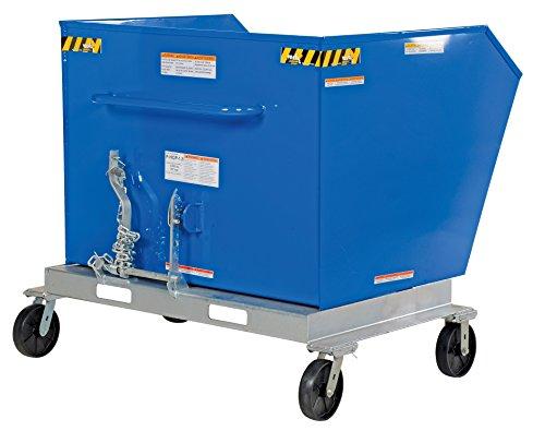 Vestil P-HOP-1.5 Portable Tilt Refuse Hopper, Steel, 2000 lb. Capacity, 49-3/8 x 53-3/8 x 52-7/8 inches (H x W x D) (Tilt Hopper)