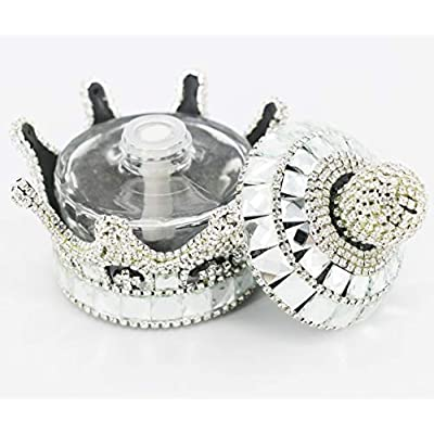 SZWGMY Crystal Crown Car Fragrance Diffuser,Perfume Bottle Holder Ornament Interior Decoration Car Home Office Air Freshener Perfume Diffuser Decor (Silver): Home & Kitchen