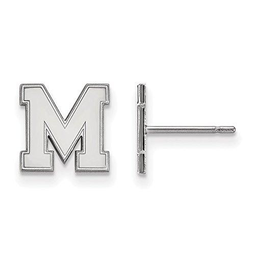 - FB Jewels Sterling Silver LogoArt University of Memphis XS Post Earrings