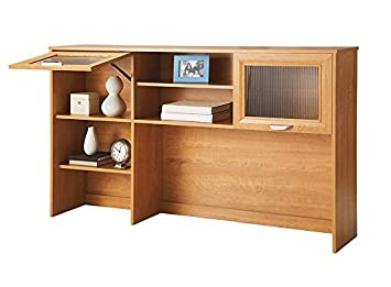 Realspace Magellan Collection Hutch - 33 5-8H x 58 1-8W x 11 5-8D - Honey Maple