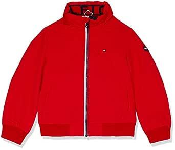 Tommy Hilfiger Kids Essential Bomber Jacket, Red, 4
