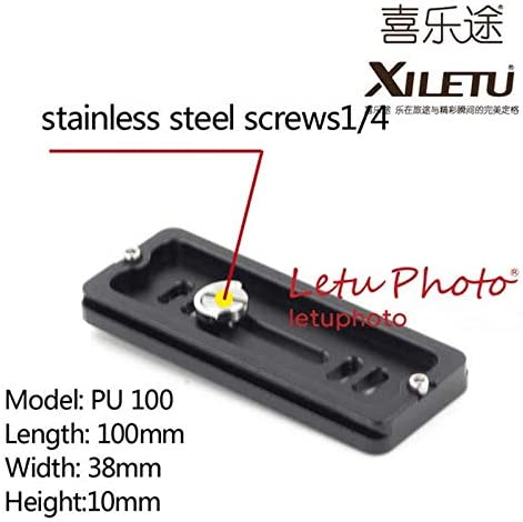 XILETU PU-100 Universal Quick Release Plate for Manfrotto Gitzo Kirk RRS