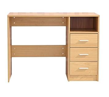 Laminat eiche hell textur  Eiche hell 3 Schublade Computer-Schreibtisch, wunderschöner Holz ...