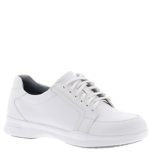 Action Leather Footwear (SoftWalk Women's Vital Lace Up,White Action Leather,US 6.5 M)