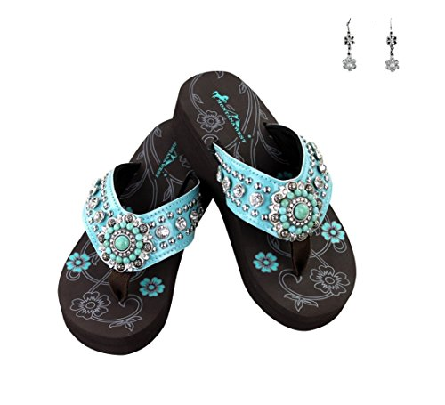 montana-west-concho-rhinestone-flip-flops-sandals-earrings-turquoise-blue-11