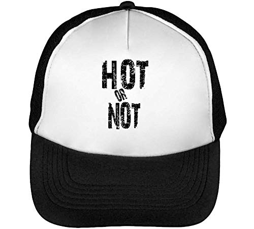 Hot Or Not Black Fashioned Slogan Gorras Hombre Snapback Beisbol Negro Blanco