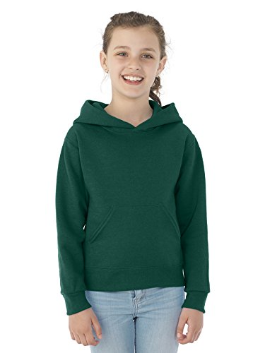 Jerzees Youth NuBlend� Hooded Pullover Sweatshirt (Forest Green) (Large)
