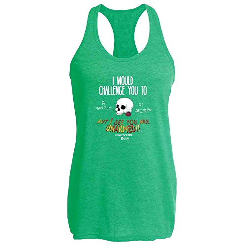 Shakespeare Battle Of Wits Funny Quote Heather Kelly L Womens Tank Top -