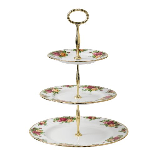 (Royal Albert 27400132 Old Country Roses 3-Tier Cake Stand)