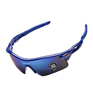 Sports Sunglasses for Men Bike Goggles Cycling Running Driving Baseball Glasses UV Protection (C)