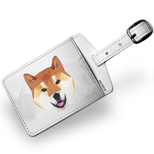 Luggage Tag Low Poly zoo Animals Shiba Inu Dog - NEONBLOND