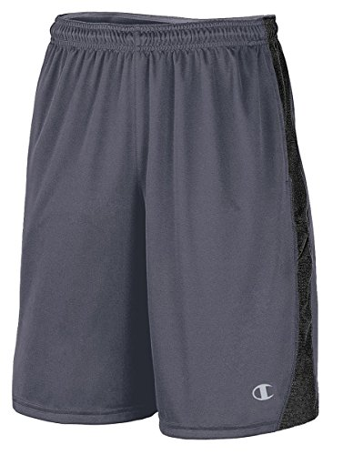 Champion Vapor PowerTrain Knit Men's Shorts_Slate Grey/Black_X-Large