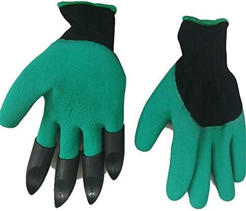 ガーデニング用手袋 グリーンベルトは浚渫の高い保護手袋屋外防水爪と花のセットを指します園芸家庭用手袋多目的 園芸 採掘 植栽 枝切り 防護手袋