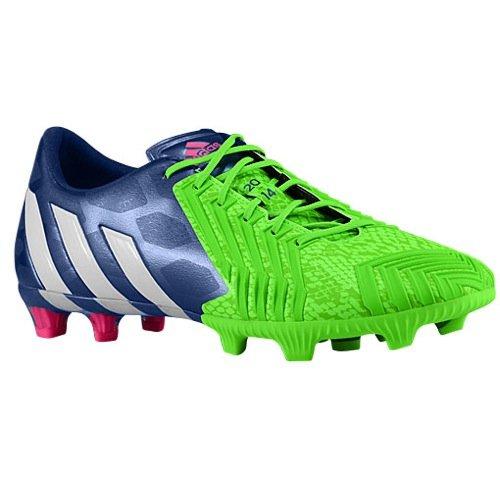 Adidas Predator Instinct FG Soccer Cleat (Solar Green, Rich Blue) Sz. 11.5