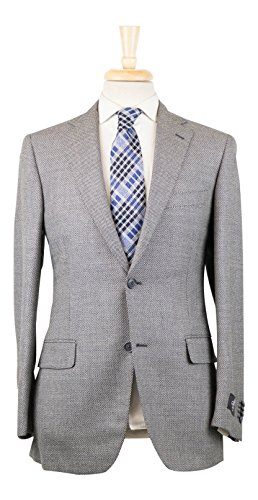 Belvest Gray Birdseye Wool 2 Button Sport Coat Size 56/46 Reg Drop 6