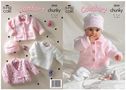 King Cole Comfort Chunky Knitting Pattern Childrens Jacket Sweater