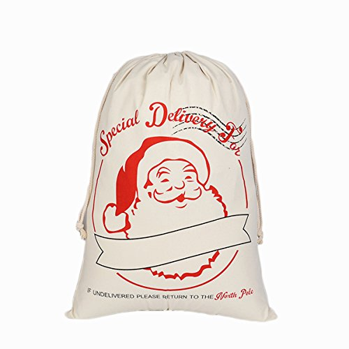 "Price comparison product image Hanta Janss Christmas Bag Sika Deer Pattern Design Santa Sack 27""X19"""