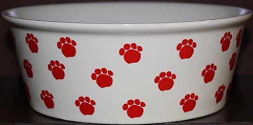 paw print dog dish - 7