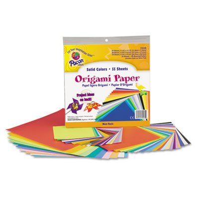 Pacon Origami Paper, 30 Lbs, 9 X 9, Assorted Bright Colors, 40 Sheets/Pack