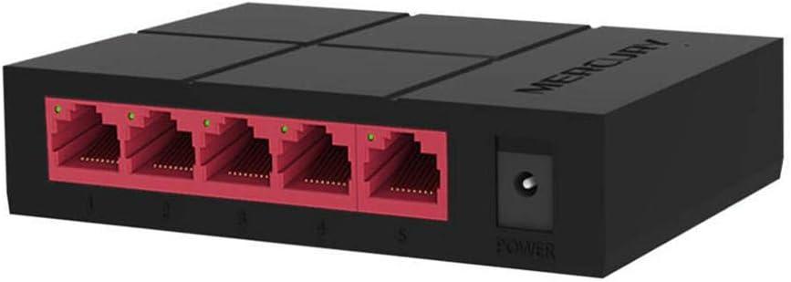Metal Case 10//100Mbps 5 Port Mini Fast Ethernet Switch Switcher Desktop NEW USA