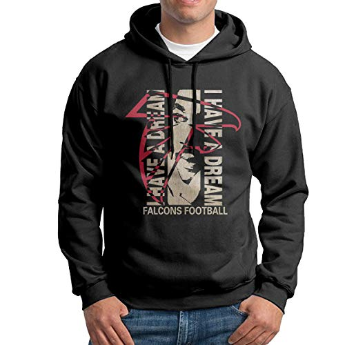 YILELE I Have A Falcons Football Dream Luther King Men's Graphic Hoodie Hooded Sweatshirt