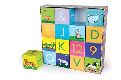 Jack Rabbit Creations Wooden ABC Blocks (Alphabet Rabbit)