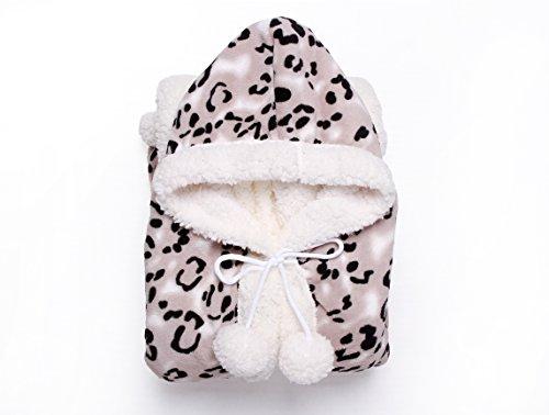 Chic Home Leopard Snuggle Hoodie 51x71 Robe Black, Standard