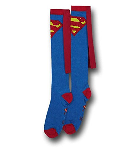 Bioworld Superman Blue Adult Knee High Cape Sock, One Size]()
