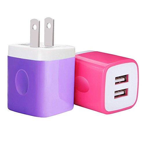Universal Features Ac Usb Charger (Charging Box, Charge Plug, Ailkin USB Wall Charger,Dual Port Rapid Speed Compact Universal USB Power Adapter Phone Charger Compatible with Apple iPhone X/8/8 Plus/7/7 Plus/Samsung Galaxy/Nexus & more)