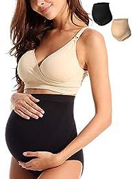 bc931dd80ac85 Women s Seamless Maternity Bamboo Fiber High Waist Over The Bump Pregnancy  Panties