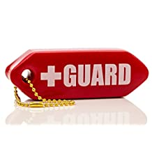 BLARIX Lifeguard Rescue Tube Float Keychain Floating Key chains (Red)